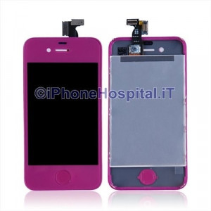 Touch + Lcd per iPhone 4S Porpora