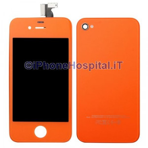 Touch + Lcd + Retro  per iPhone 4G Arancio