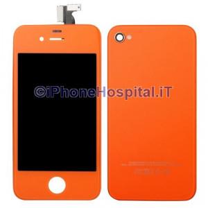 Touch + Lcd + Retro  per iPhone 4G Arancio