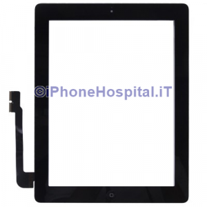 Touch Screen Nero Assemblato Per iPad 3