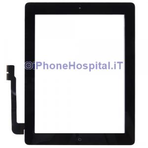 Touch Screen Vetro per iPad 3 Schermo Nero Tasto Home Adesivo Assemblati Grado A