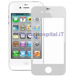 Vetro per Apple iPhone 44S color Bianco 5 pezzi