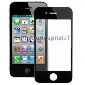 Vetro per Apple iPhone 4/4S color Nero