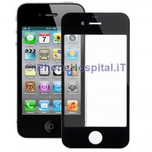 Vetro per Apple iPhone 4/4S color Nero