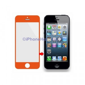 Vetro per Apple iPhone 5 color Arancio