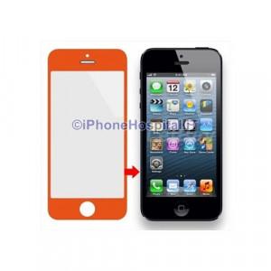 Vetro per Apple iPhone 5 color Arancio