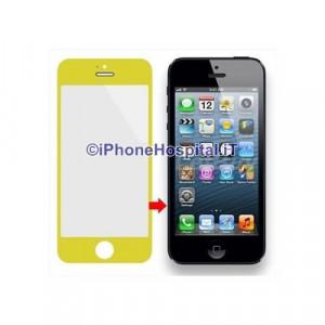 Vetro per Apple iPhone 5 color Giallo