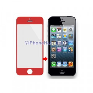 Vetro per Apple iPhone 5 color Rosso