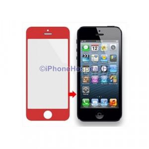 Vetro per Apple iPhone 5 color Rosso