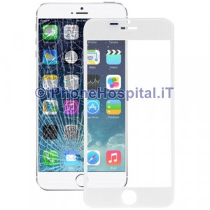 Vetro per Apple iPhone 6 color Bianco 4.7""