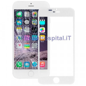 "Vetro per Apple iPhone 6 Plus color Bianco 5.5"" A1525"