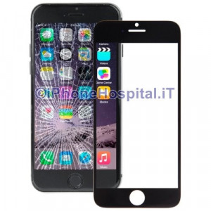"Vetro per Apple iPhone 6 Plus color Nero 5.5"" A1524"