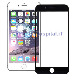 Vetro per Apple iPhone 7 Plus color Nero