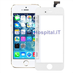 Vetro + Touch Bianco gia Assemblati per Apple iPhone 5 OEM