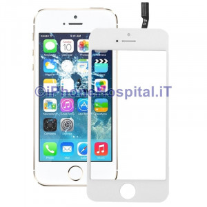 Vetro + Touch Bianco gia Assemblati per Apple iPhone 5S / 5C OEM