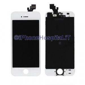 Vetro + Touch + Lcd per iPhone 5 Bianco Grado A