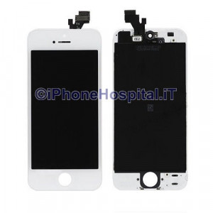Vetro + Touch + Lcd  per iPhone 5 Bianco OEM