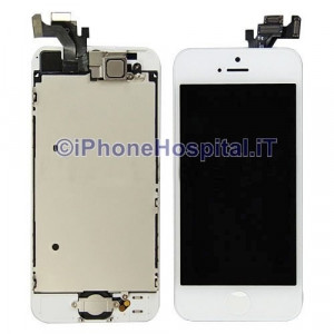 Vetro + Touch + Lcd per iPhone 5 Bianco OEM Assemblato