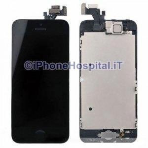 Vetro + Touch + Lcd per iPhone 5 Nero Grado A Assemblato