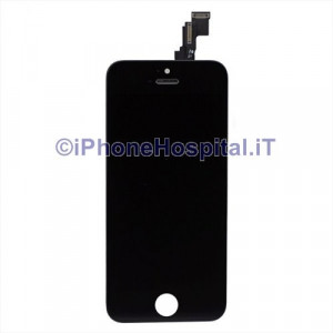 Vetro + Touch + Lcd per iPhone 5C Nero Grado A
