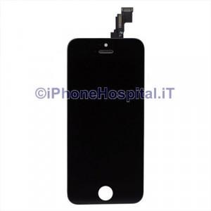 Vetro + Touch + Lcd per iPhone 5C Nero Grado A