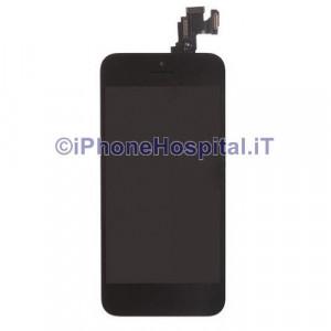 Vetro + Touch + Lcd per iPhone 5C Nero OEM Assemblato