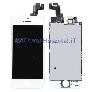 Vetro + Touch + Lcd per iPhone 5S Bianco OEM Assemblato