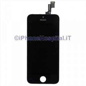Vetro + Touch + Lcd per iPhone 5S Nero Grado A