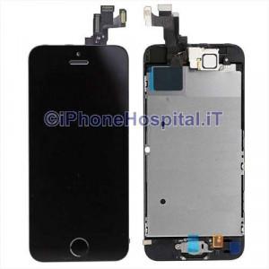 Vetro + Touch + Lcd per iPhone 5S / SE Nero OEM Assemblato con Tasto Home