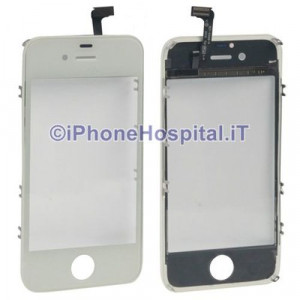 Vetro Touch Screen + Frame Bianco per Apple iPhone 4S