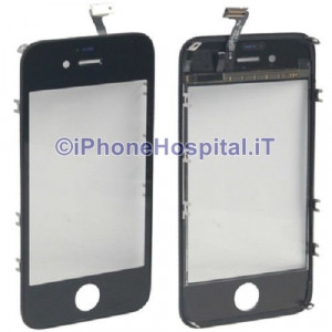 Vetro Touch Screen + Frame Nero per Apple iPhone 4S