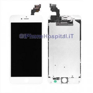 Vetro Touch Screen Lcd per iPhone 6 Plus Bianco Assemblato OEM