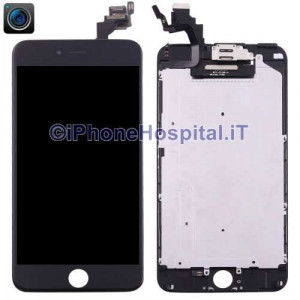 Vetro Touch Screen Lcd per iPhone 6 Plus Nero Assemblato OEM