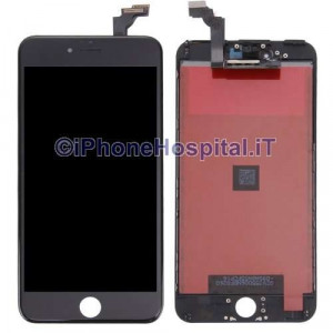 Vetro Touch Screen Lcd per iPhone 6 Plus Nero Grado A