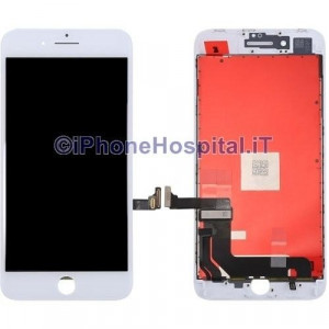 Vetro Touch Screen Lcd per iPhone 8 Plus ( A1864, A1897, A1898 ) Bianco OEM