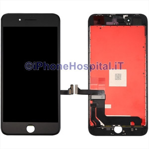 Vetro Touch Screen Lcd per iPhone 8 Plus ( A1864, A1897, A1898 ) Nero OEM