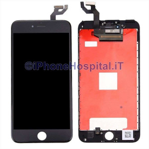 Vetro Touch Screen Touch Lcd Assemblato per iPhone 6S Plus Nero Grado A
