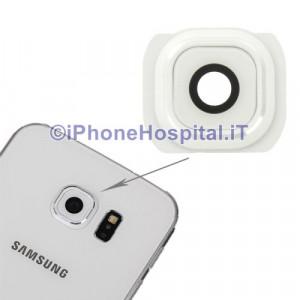 Vetro Vetrino Bianco Lente Fotocamera Posteriore Camera per Samsung Galaxy S6 G925