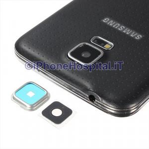 Vetro Vetrino Lente Fotocamera Posteriore Camera per Samsung Galaxy S5 G900