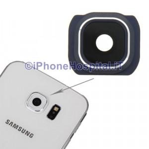 Vetro Vetrino Nero Lente Fotocamera Posteriore Camera per Samsung Galaxy S6 G925