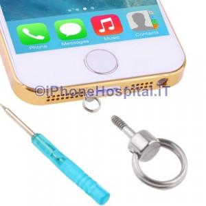 Vite con Anello per Cordicella iPhone 4/4S ,iPhone 5/5S/5C