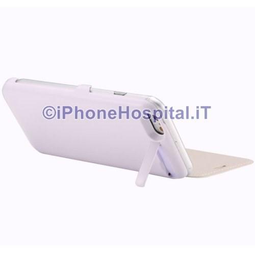Batteria Esterna Emergenza Custodia iPhone 6 & 6S Bianco 3000 mAh